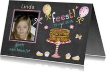 verjaardagsfeestje taartje