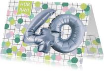 Verjaardagskaarten - Verjaardagskaart 40 jaar confetti ballonnen