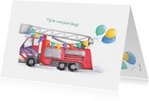 Verjaardagskaart brandweer