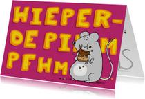 Verjaardagskaarten - Verjaardagskaart Hieperdepiempfh
