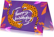Verjaardagskaarten - Verjaardagskaart luipaarden
