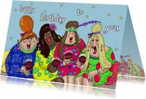 Verjaardagskaarten - Verjaardagskaart proosten
