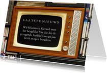 Verjaardagskaarten - Verjaardagskaart televisie