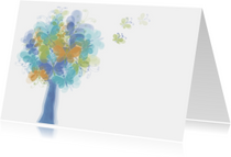 Rouwkaarten - Vlinderboom