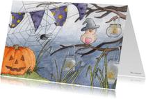 Halloween kaarten - Vogeltjes in oktober