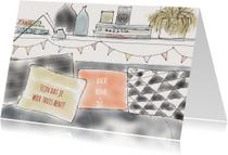 Welkom thuis kaarten - Welkom thuis Illustratie
