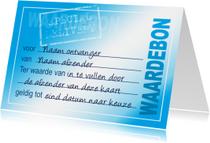 Wenskaart Waardebon Blue