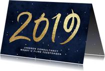 Zakelijke kerstkaarten - Zakelijke kerstkaart nieuwjaarskaart 2019