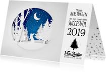 Zakelijke kerstkaarten - Zakelijke winterse kerstkaart uitgeknipt papier