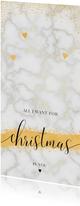 Kerstkaarten - All I want for christmas is you marmer kerstkaart