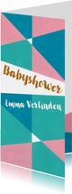Babyshower pastel geometrisch - sk