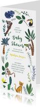 Babyshower tijger en dieren jungle thema