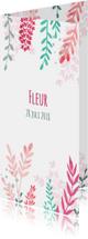 Geboortekaartjes - Bloemen geboortekaartje