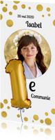 Communie confetti goud en ronde foto