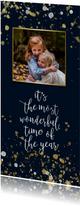 Kerstkaarten - Enkele kerstkaart met handgeschreven tekst en confetti