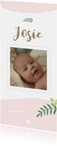 Geboorte - Botanisch, watercolour en foto