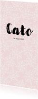 Geboortekaartjes - Geboorte meisje bloemen wit Cato - MW