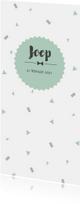 Geboortekaart confetti mint langwerpig - BC
