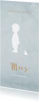 Geboortekaartjes - Geboortekaart langwerpig blauw aquarel silhouet - BC