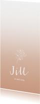 Geboortekaartjes - Geboortekaartje takje met hartjes