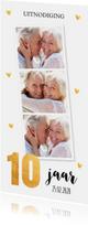 Jubileumkaart huwelijk 10 jaar goud fotocollage