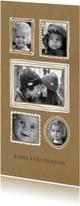Kerstkaarten - Kerstkaart fotocollage kraft lijstjes