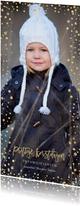 Kerstkaarten - Kerstkaart lang confetti rand