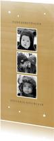 Kerstkaarten - Kerstkaart langwerpig 3 foto's waterverf
