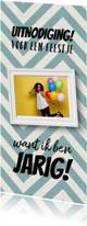 Leuke uitnodigingskaart verjaardag met foto