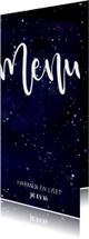Menukaart 'MENU' Galaxy