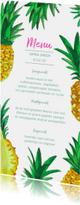 Menukaart tropisch 21 diner ananas