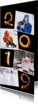 Nieuwjaar 2019 vuurwerk fotocollage