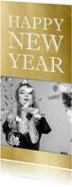 Nieuwjaarskaarten - Nieuwjaarskaart 2019 goud