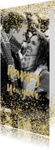 Nieuwjaarskaart glitter en glamour