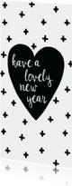 "Nieuwjaarskaart lang ""hart"""