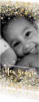 Nieuwjaarskaart stijlvol foto kaart sterren en twinkelingen