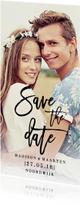 Save the Date modern streep
