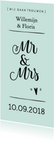 Trouwkaart mr&mrs modern