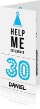 Uitnodigingen - Uitnodiging 30 jaar - man