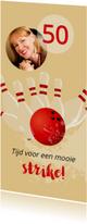 Uitnodigingen - Uitnodiging 50 bowlingfeest