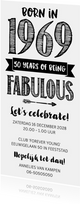 Uitnodiging born in 1969 - 50 years of being fabulous