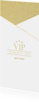 Uitnodiging borrel VIP goud