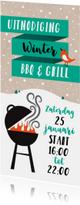 Uitnodiging winter kerst BBQ en Grill nieuwjaarsborrel