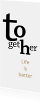Verhuizen typografie samenwonen