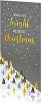 Zakelijke kerstkaarten - Zakelijke kerst bomen mix op marmer en beton