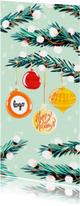 Zakelijke Kerstkaart Dennentakken