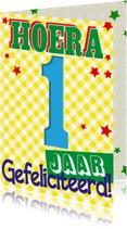 Verjaardagskaarten - 1 jaar eerste verjaardag -BF