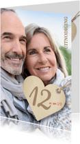 Jubileumkaarten - 12,5 jaar foto en hart