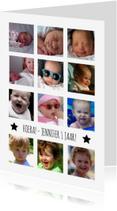 Kinderfeestjes - 12 maanden fotocollage wit