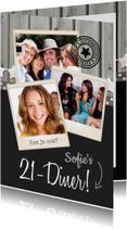 Uitnodigingen - 21-diner Uitnodiging Polaroids